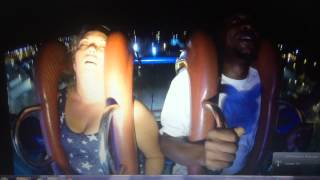Girl passes out 3 times on slingshot ride