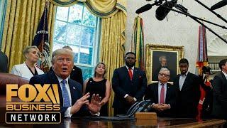 Trump praises the new White House press secretary