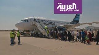 إزدحام المسافرين في مطار مصراتة