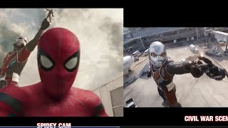 Vlogging Spiderman edited w/ Civil War Airport Battle scenes