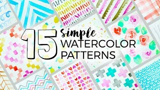 15 Simple Watercolor Patterns to Paint! | Sea Lemon