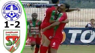 اهداف مباراة الاتحاد المنستيري 1-2 الملعب التونسي (الدوري التونسي)