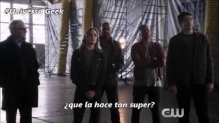 Mega Crossover 1 Escena SUBTITULADA HD Flash, Arrow, Supergirl y LOT 2016
