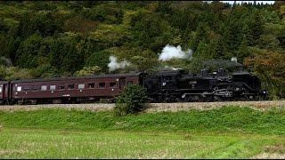 SL蒸気機関車C11形・飯山線・試験運転・4K撮影