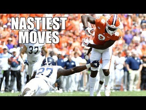 Nastiest Moves Hurdles Jukes Spin Moves & Stiff Arms Of The 2018 19 College Football Season ᴴᴰ