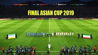 FINAL UZBEKISTAN VS IRAN ASIAN CUP (AFC) 2019 (UAE)   Full Match   Amazing Goals HD   PES Gameplay