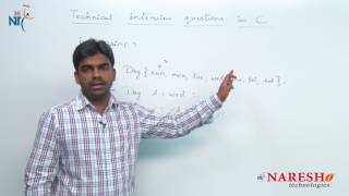 Enum | C Technical Interview Questions and Answers | Mr. Srinivas