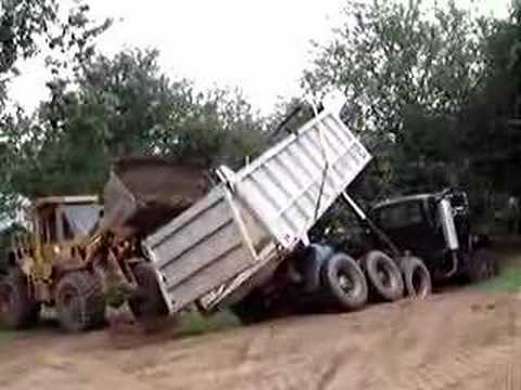 dump truck upright