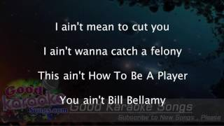 Bed Of Lies -  Nicki Minaj (Lyrics KAraoke) [ goodkaraokesongs.com ]