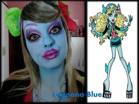 MAQUIAGEM DA BONECA MONSTER HIGH LAGOONA BLUE MAQUIAGEM ARTÍSTICA