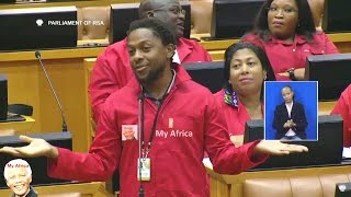 Classic Mbuyiseni Ndlozi  Back In Parliament. Welcome Back
