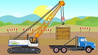 #Trucks and Excavators and Crane | Construction Machines Story| Baumaschinen | Maszyny Budowlane 🤩