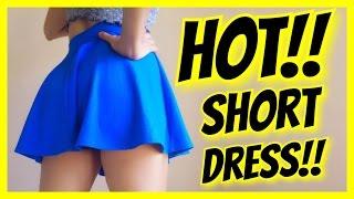 HOT !! GIRL IN SHORT DRESS !! MUST WATCH!!