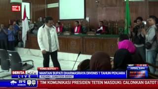 Mantan Bupati Dharmasraya Divonis 1 Tahun Penjara