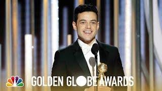 Rami Malek Wins Best Actor, Drama - 2019 Golden Globes (Highlight)