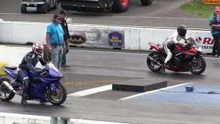 2016 Suzuki gsxr 1000 vs Nitrus Yamaha R6-street bike racing,drag racing,acceleration and top speed