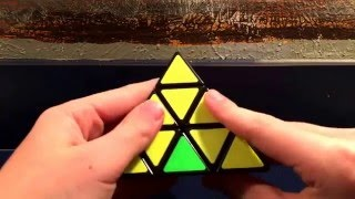 How to solve the pyraminx (pyramid rubicks cube)