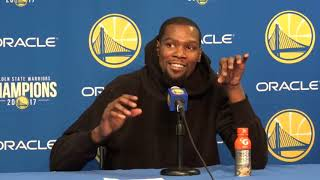 Kevin Durant Postgame Interview / GS Warriors vs Knicks / Jan 23