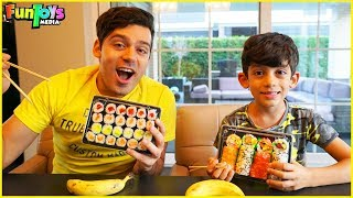 Jason Orders Sushi for Delivery, Funny Kids video by FunToysMedia