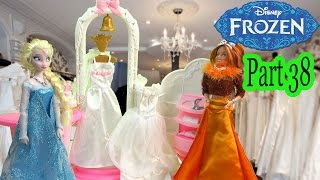 Queen Elsa Princess Anna Frozen Disney Wedding Dress Shop Barbie Doll Boutique Series Video Part 38