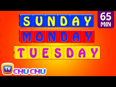 Learn Teach Days of the Week Song Alphabets Colors Numbers Nursery Rhymes for Kids ChuChu TV