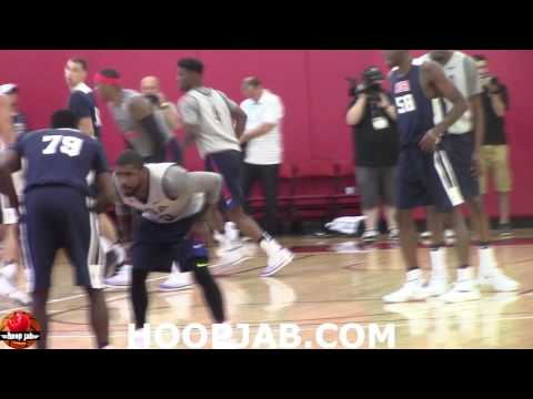 watch Kevin Durant,Kyrie Irving,Carmelo Anthony,Klay Thompson.USA Basketball Competitive Scrimmage.