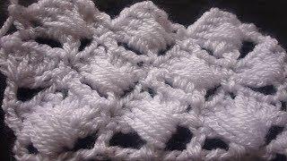 كروشيه نقشة حمام مكتف Crochet Stitches