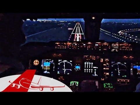 Beautiful 747 Landing Amsterdam - Boeing 747-400 Cockpit, w/ ATC