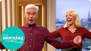 Phillip & Holly Try Out Laughter Yoga | This Morning