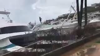 Hurricane Irma destruction on St. Thomas USVI