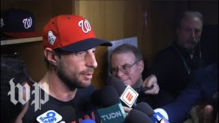 Nationals players discuss their Game 1 victory over the Astros