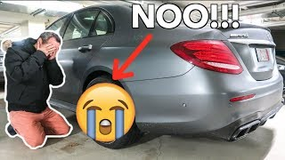 MY DAD CRASHED MY NEW E63 AMG *WTF!!!*