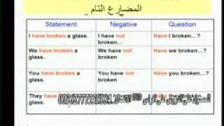 دروس في اللغة الانجليزية للأستاذ خالد الخطيب –  Present Perfect المضارع التام   Lesson 6 Part 1