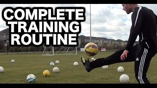 Full Soccer Training Session ► Soccer drills to do by yourself ► How to practice soccer alone