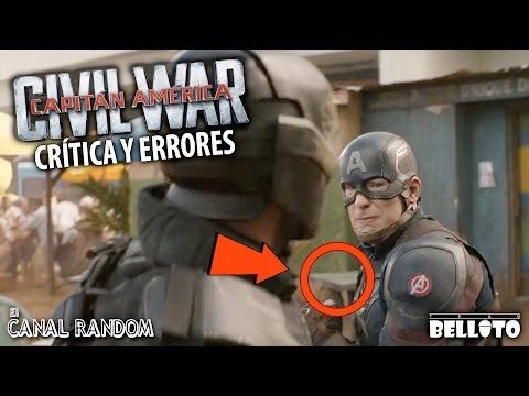 Errores de películas Civil War Capitán América 3 Review Crítica PQC WTF