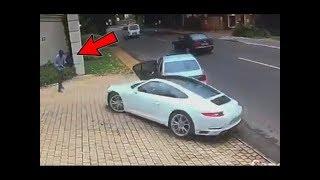 أرادوا سرقة سيارته البورش.. أنظر ماذا فعل بهم !!