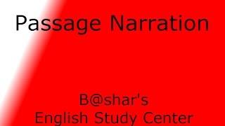 Passage narration