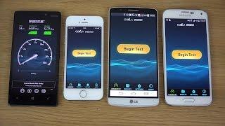 Nokia Lumia 930 vs. iPhone 5S vs. LG G3 vs. Samsung Galaxy S5 - Internet Speed Test