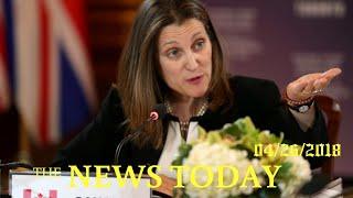 Canada Sees Progress On NAFTA Auto Rules; Steel Tariffs Loom   News Today   04/26/2018   Donald...