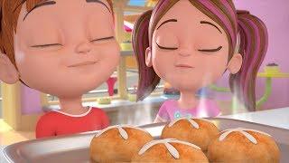 Hot Cross Buns | Kindergarten Nursery Rhymes for Children | Cartoons for Babies by Little Treehouse