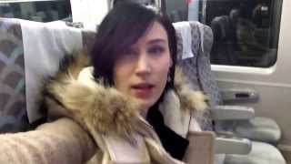Riding the KTX train to apartment hunt in Asan, Korea