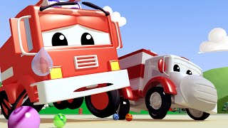 Baby Franck the FIRETRUCK SWALLOWED a Marble! - Amber the Ambulance Cartoon for Children