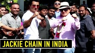 Jackie Chan In India | Grand Welcome At Mumbai Airport 2017 | Kung Fu Yoga Promotion | 2017