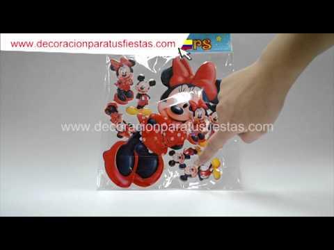 Aplique para el ponqué de cumpleaños con tema de Mickey mouse
