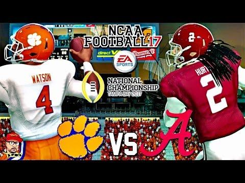 🏈 CFP NATIONAL CHAMPIONSHIP THRILLER 2 CLEMSON vs. 1 ALABAMA GAMEPLAY NCAA FOOTBALL 17