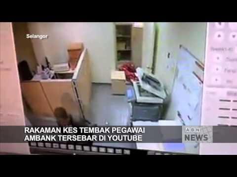 Rakaman kes tembak pegawai bank tersebar Polis buru pengawal keselamatan