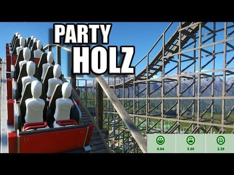 watch Planet Coaster Deutsch #11 - HOLZACHTERBAHN - HERAUSFORDERUNG - German Let's Play / Gameplay