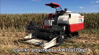 Yanmar AW70V with Corn-Kit Attachment (for rice and corn combine harvester)