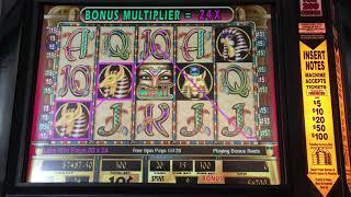 HUGE Cleopatra 2 Bonus Round $30 MAX BET 4X RETRIGGER