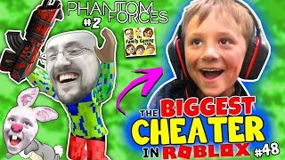 ROBLOX BIGGEST CHEATER!! FGTeeV Chase & Dudz 1v1 Challenge (Down with the Pew #48)